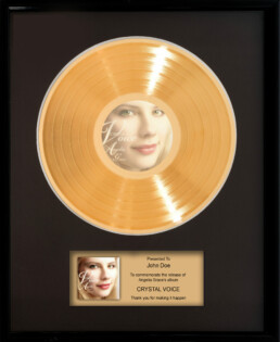 Commemorative Plaque Angelia Grace Crystal Voice album